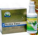 Super Trio vitamins, essential fatty acids and antioxidants pre-packaged for people on the go.